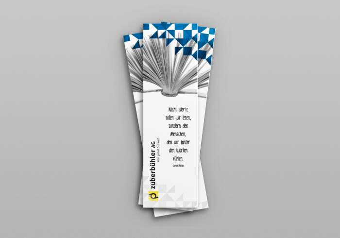 Buchlesezeichen - individuell bedruckt mit eigenem Logo, Texten und Bildern