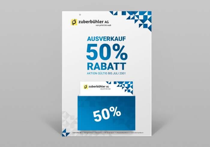 Hängekarton mit Dispenser für Werbeflyer - Hergestellt für Öffentliche Verkehrsmittel nach Vorgaben der VBZ