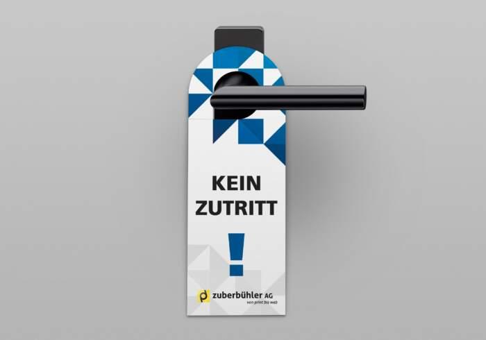 Türhänger individuell bedruckt - Kein Zutritt!