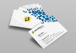 Visitenkarten 2-seitig, vierfarbig gedruckt auf hochweissem Karton