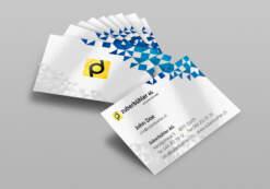 Visitenkarten 2-seitig, vierfarbig gedruckt und 2-seitig laminiert